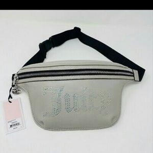 Juicy Couture Fanny Pack Grey Rhinestone Belt Bag